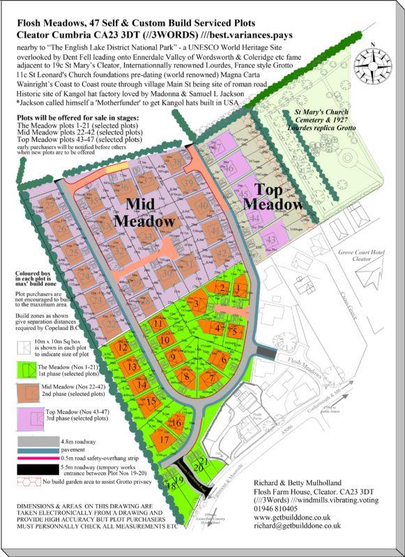 Flosh Meadows Cleator self-build and custom build serviced plots